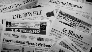 Foreign newspapers